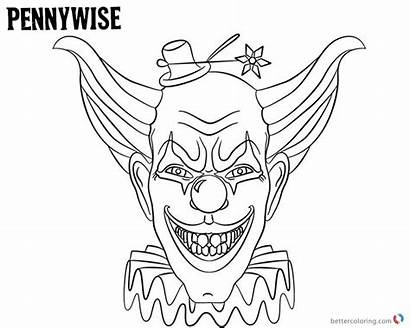 Coloring Pennywise Hat Bettercoloring Characters Printable Respective