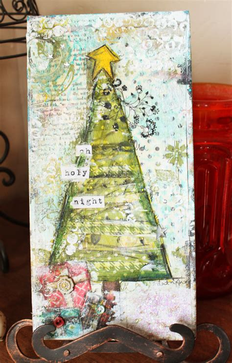 christytomlinson christmas mixed media canvas tutorial