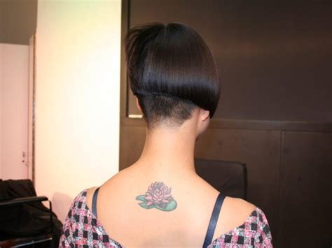 girls hairstyle buzzed napes