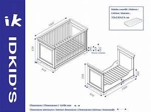 Dimension Lit Bébé Standard : lit b b classique mel idkid 39 s ~ Teatrodelosmanantiales.com Idées de Décoration