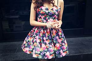 Dress: floral, cute, flowers, floral dress, sweatheart ...