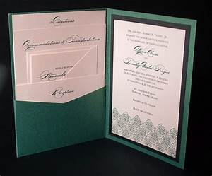 Irish green wedding invitation a7 pocket folded flickr for Portrait pocket wedding invitations