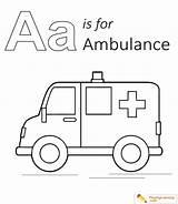 Ambulance Coloring Sheet sketch template