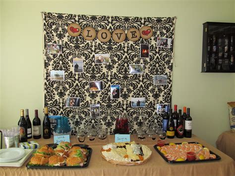 What would you use your buffet table for? Buffet table with picture backdrop   Buffet table, Picture backdrops, Decor