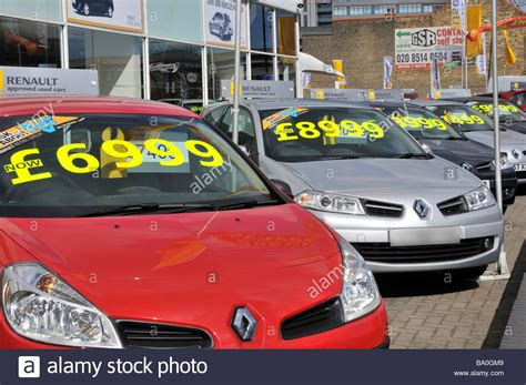 Car Price by East Renault Car Dealer Forecourt Display Of Cars