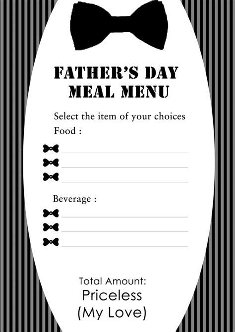 s day menu template s day dinner menu projects to try breakfast menu s day and breakfast