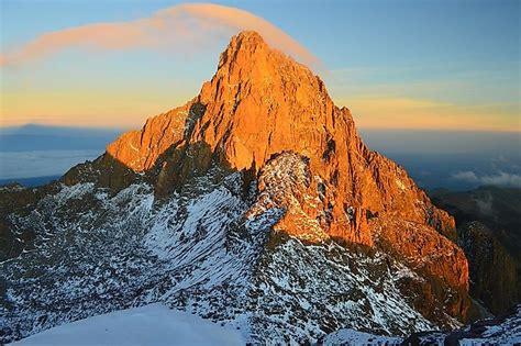 highest mountains  kenya worldatlascom