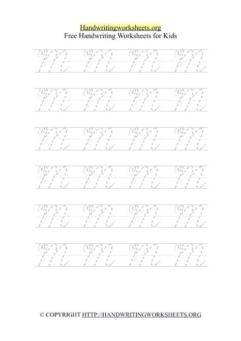 handwriting worksheet year