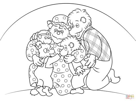 berenstain bears  hugging coloring page