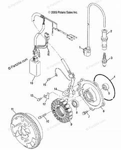 Polaris Side By Side 2005 Oem Parts Diagram For Magneto