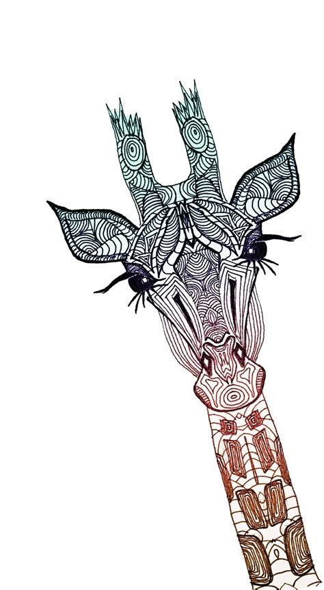 giraffe art print tribal giraffe tattoo design