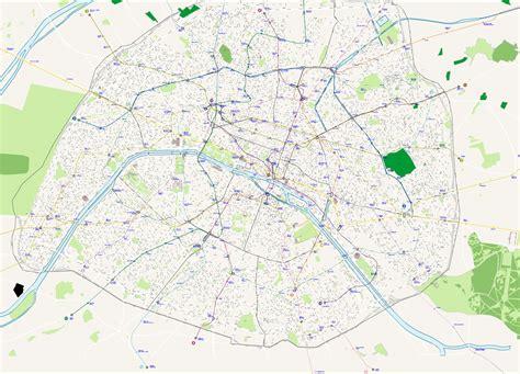 Carte Departement Parisien by Carte Plan Vectoriel Des Rues De Avec Noms
