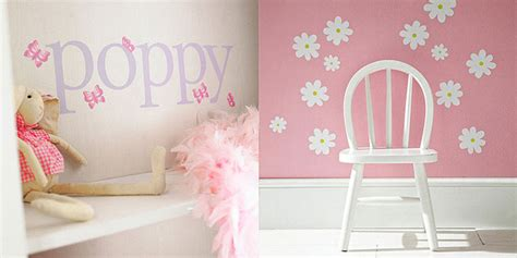 cute  butterfly daisy wall decor interior design ideas