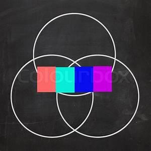 Four Letter Word Venn Diagram Shows Intersect Or Overlap