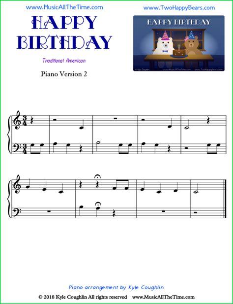 Happy birthday easy piano 5 tips learn play dazzle. Happy Birthday Piano Sheet Music