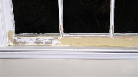 window sill repair rotted putty cracks around holes rock hard self voids patched drilled apply wait areas hours