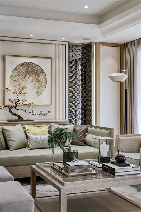 Beautiful wall design neutral colors and gold accents