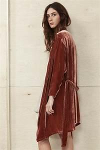Fire Red Velvet Kimono Robe | wear | Pinterest | Red ...