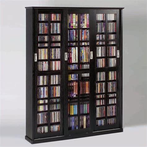 leslie dame sliding door media cabinet sliding door inlaid glass mission black multimedia cabinet