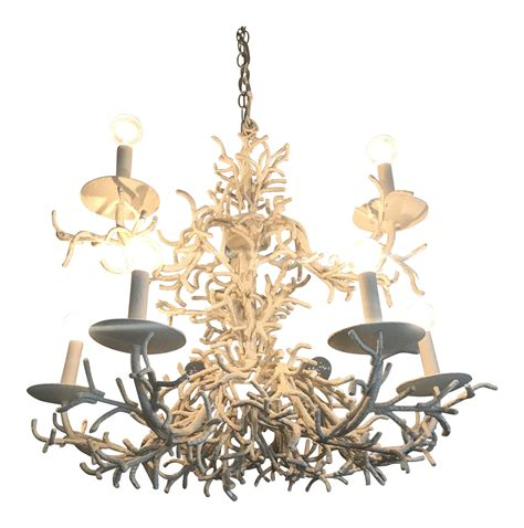 Coral Chandelier by Vintage Faux Coral Chandelier Chairish