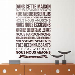wall stickers famous and motivational quotes in french With stickers dans cette maison