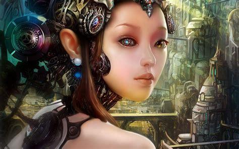 cyborg woman fantasy  wallpaperscom