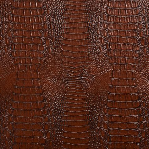 Alligator Upholstery Fabric by Brown Crocodile Faux Leather Vinyl By The Yard