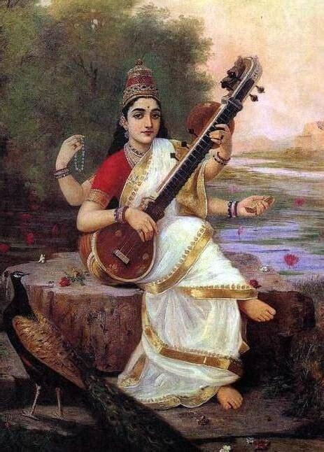 saraswati meaning ravi raja varma behind history 1896 depiction behindthename