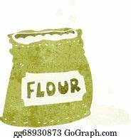 Vector Clipart - Cartoon bag of flour. Vector Illustration ...