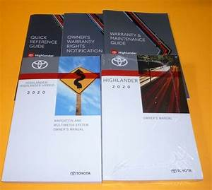 2020 Toyota Highlander Owners Manual Set 20 Le Xle Limited