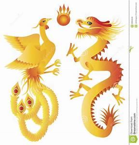 Dragon And Phoenix Chinese Symbols Illustration Stock ...