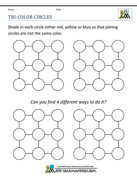 Put the sticky puzzle aside, and perhaps the next day a new i ine of attack may suddenly strike you. Math Puzzle 1st Grade