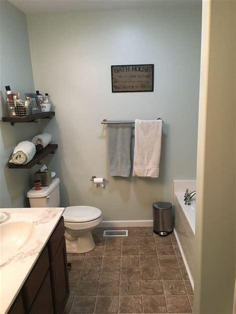 filmy green  sherwin williams  bathroom neutral paint