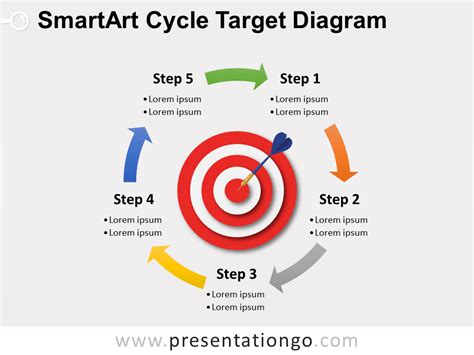 smartart cycle target powerpoint diagram