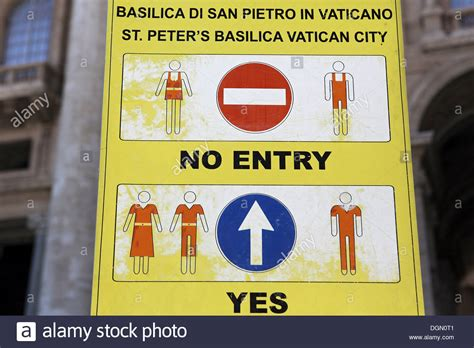 vatican city vatican city sign  dress code  st