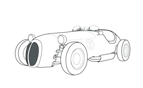 Old Race Car Coloring Page See the category to find more