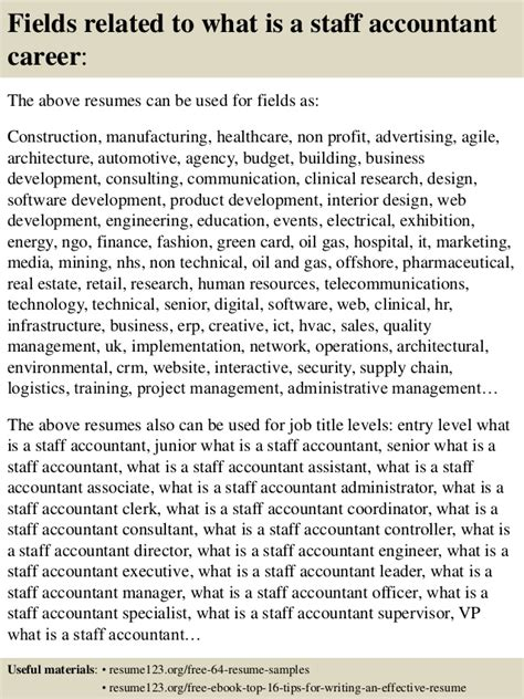 top 8 what is a staff accountant resume sles