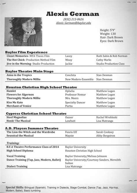 baylor theatre arts german