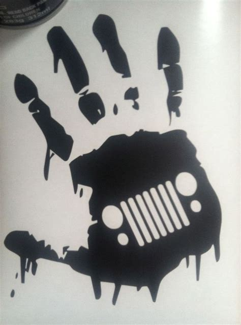 zombie jeep decals zombie jk hand wave jeep quot grill quot wrangler decal for danny