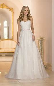Princess A Line Sweetheart Tulle Lace Wedding Dress With