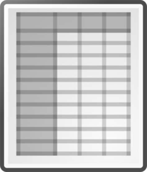 spreadsheet clip art  clkercom vector clip art