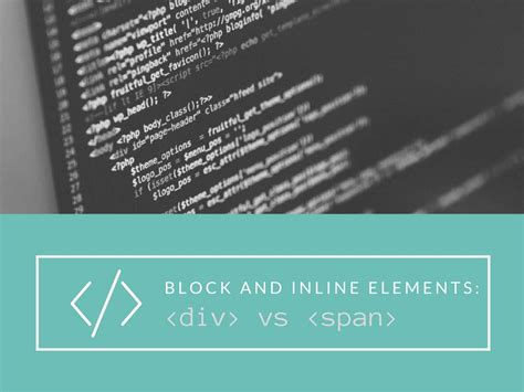 Html Div Element by Block Level And Inline Elements The Difference Between And