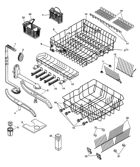 kenmore ultra wash dishwasher model  parts diagram
