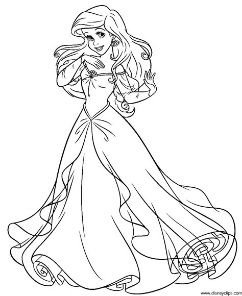 ariel coloring page ariel mermaid coloring pages