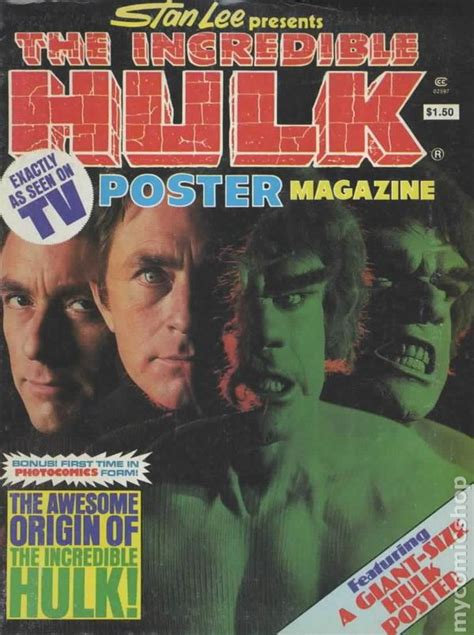 incredible hulk poster magazine  comic books