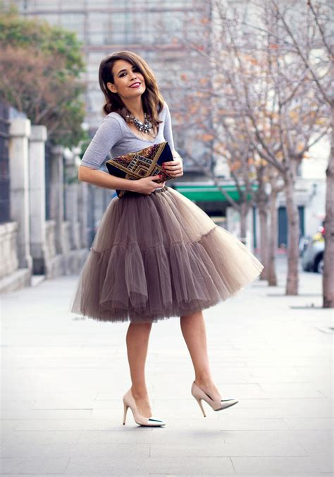 Cute Ways to Wear Tulle Skirts on the Streets - Ohh My My
