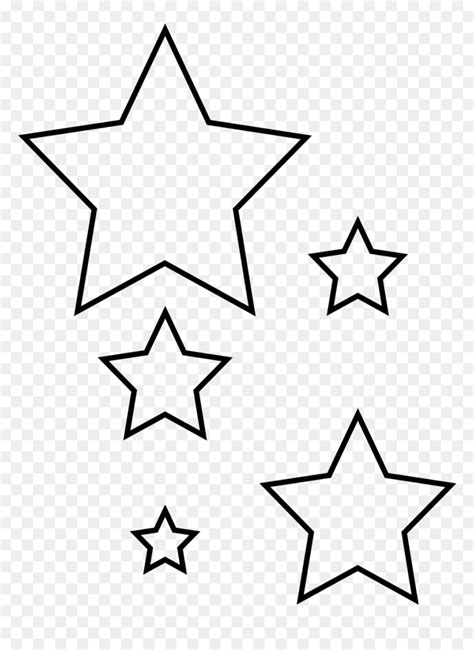 revisited star cut  printable template red white