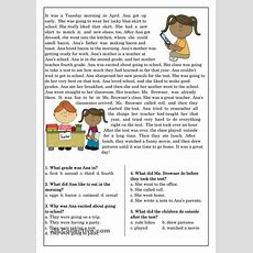 Reading Comprehension Simple Past  Dil Reading