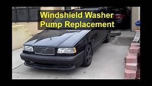 Windshield Washer Pump Replacement  Volvo 850 - Votd