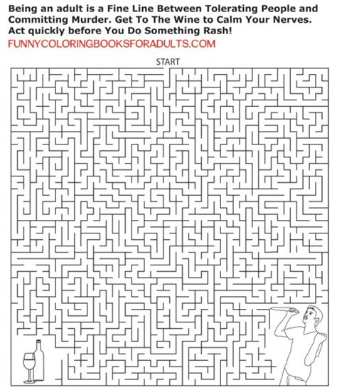 funny coloring book page funny coloring books  adults
